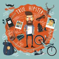 Hipster concept seal icon vector