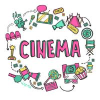 Concetto di design del cinema