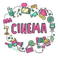 Concetto di design del cinema