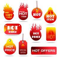 Conjunto de etiquetas de venta caliente
