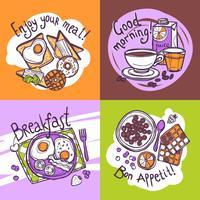 Concepto de diseño de desayuno
