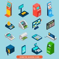 Set di icone bancarie isometrica