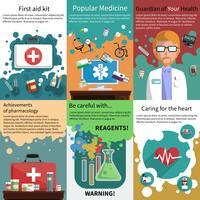 Mini cartel de medicina conjunto muliticolored
