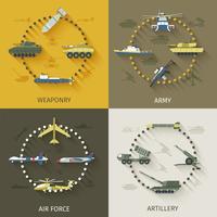 Conjunto plana del ejército