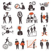 Vergadering mensen Icon Set
