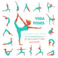 ícones de poses de ioga