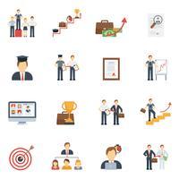Set piatto di icone di carriera