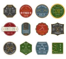 Fitness vintage labels set
