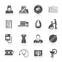 Set di icone di infermiera