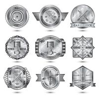 Repair Workshop Metal Emblems Set