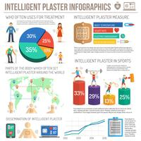 Elektronischer Patch Infografiken mehrfarbig