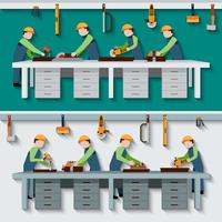 Carpentry Workshop Illustration vector