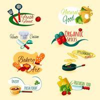 Matlagning Emblem Set