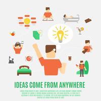 Ideen-Konzept flach