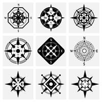 Kompass ikoner Set