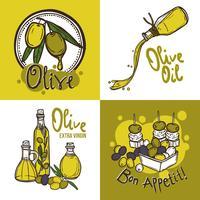 Concepto de diseño de oliva