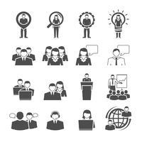 Affärssamhällets demografiska sammansättning svarta ikoner