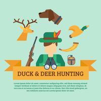 Ilustración del concepto de caza