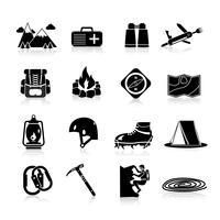Iconos de escalada negro