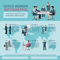 Office Worker Infographics