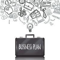 Conjunto de Doodles de negócios