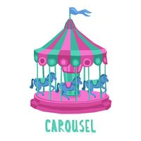 Kind Carrousel Illustratie
