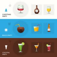 Drinks Polygonal Banners