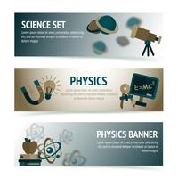 Banners de ciência física vetor