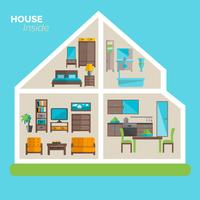 House inside furnishing ideas icon poster