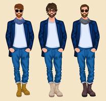 Hipster Mann gesetzt