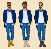 Ensemble homme hipster