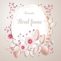 Romantic flower frame