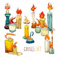 Candle set icons