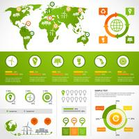 Energie infographics lay-out sjabloon
