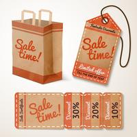 Sale items cardboard set