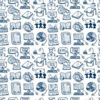 Online utbildning ikon sömlös bakgrund