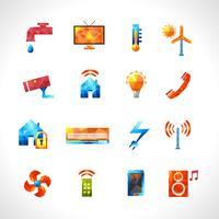 Smart House veelhoekige pictogrammen