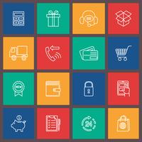 Shopping e-commerce icon vector