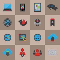 sociale media pictogrammen instellen