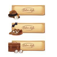 gentleman banner set