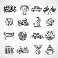Conjunto de iconos de carreras