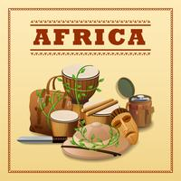 African Travel Background vector