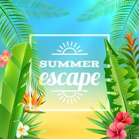 Tropical Plants Background vector