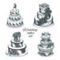 Wedding cakes set vector