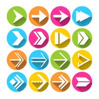 Pfeilsymbole Icons Set