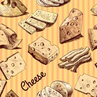 Cheese sketch seamless wallpaper