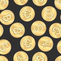 Naadloos de muntenpatroon van de geldbetaling