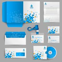 Identidad Corporativa Azul vector