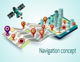 Mobile Navigation Concept vector