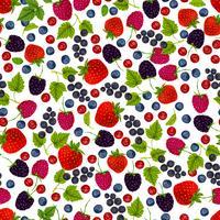 Nahtloses Muster der frischen Beeren